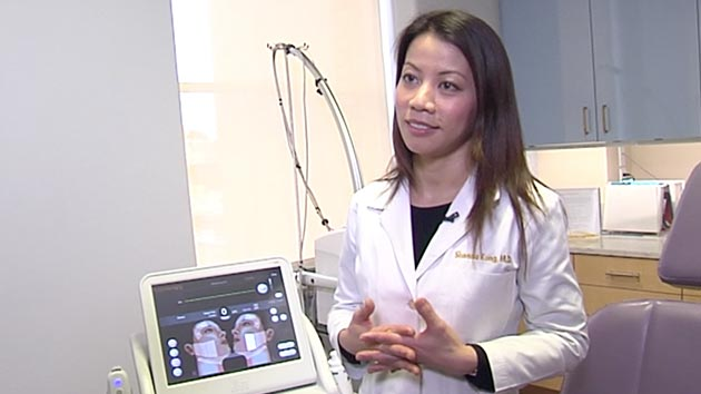 Dr. Kong talking about Ultherapy in abc7 news video
